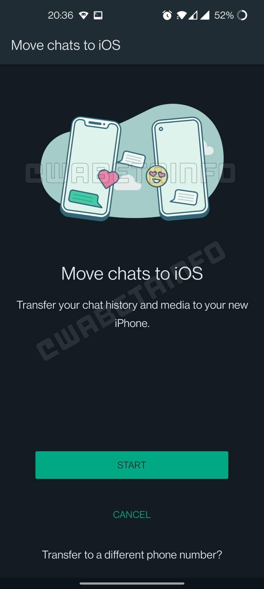 WhatsApp, Android sohbet yedeğini iOS cihaza taşıma özelliğini test ediyor.