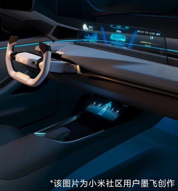 Images from Xiaomi's electric car were shared! 3