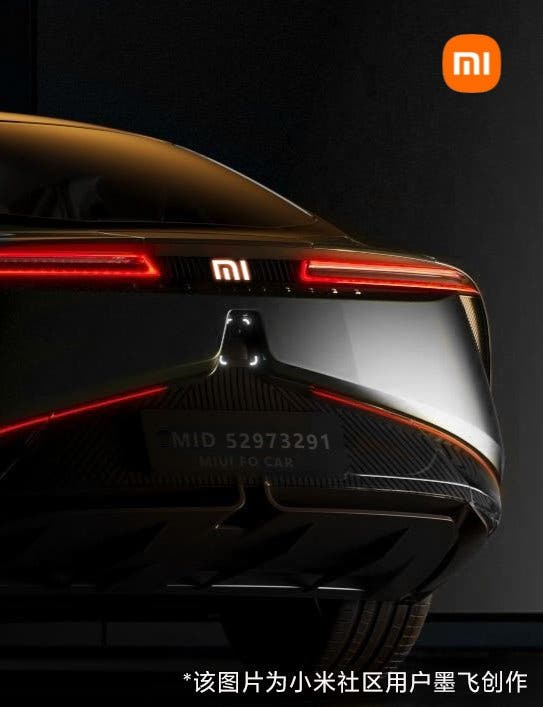 Images from Xiaomi's electric car were shared! 4