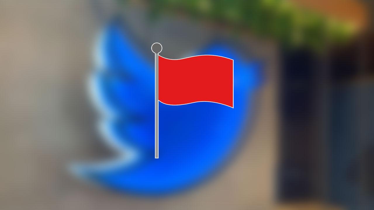 twitter kırmızı bayrak