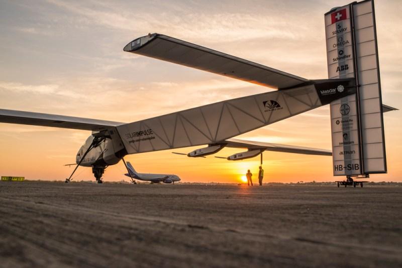 Solar Impulse takes-off from Ahmedabad to Varanasi