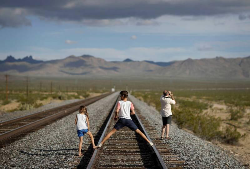 Apesar da linha férrea que liga Los Angeles a Salt Lake City passar pela vila, a vila pouco é visitada atualmente. Créditos: John Locher/AP
