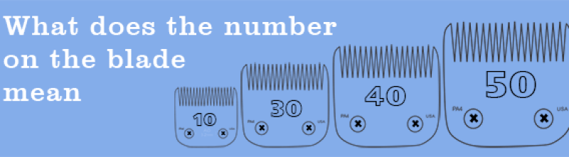 meaning of the number on the blade