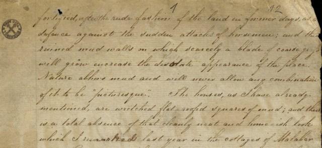 Pieces of Hermann Gundert's journal – ഹെർമ്മൻ ഗുണ്ടർട്ട് — കൈയെഴുത്തുപ്രതി