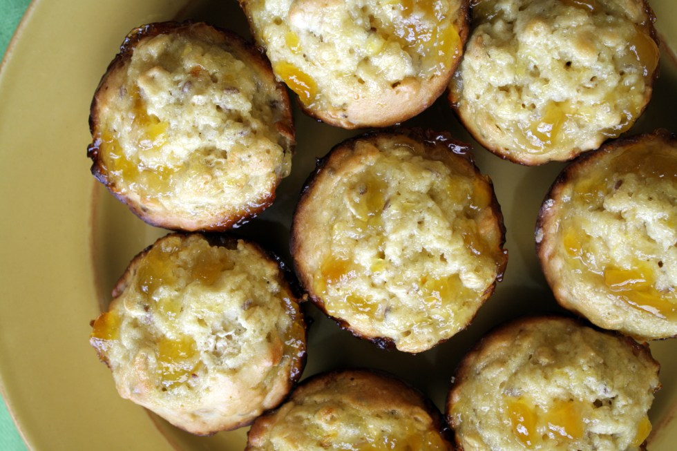 Mango Macadamia Nut Butter Muffins