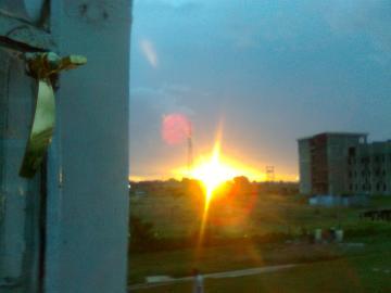 Moi University Hostels against Sunset