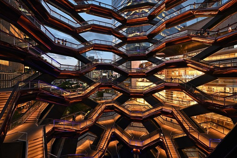 Inside the Vessel at Hudson Yards romantic NYC date
