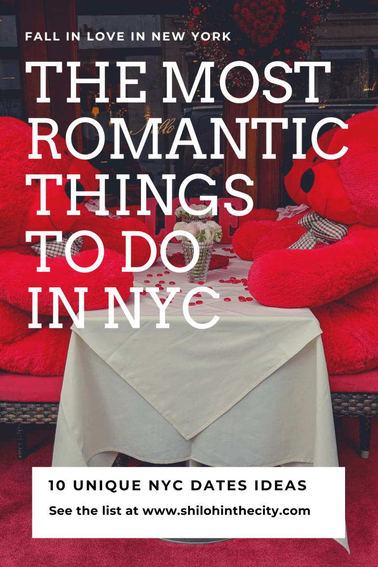 Romantic things to do in NYC date ideas Pinterest