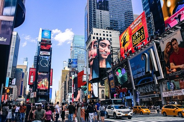 Times Square today. Image by Wallula from Pixabay.