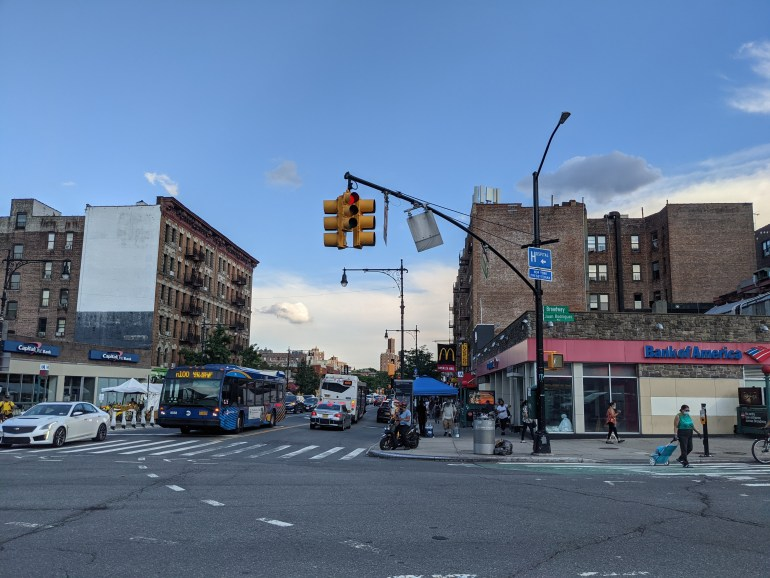 Image of the intersection of Juan Rodriguez Way and Dyckman Street