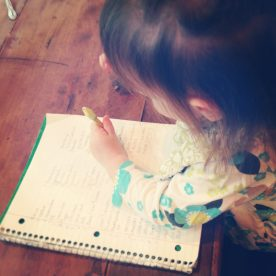 Emmi coloring on my grocery list! :)