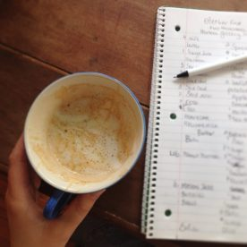 Grocery list + Latte = perfection! ;)