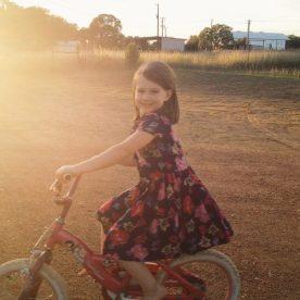 Biki riding at sunset!