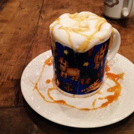 She made me a caramel latte