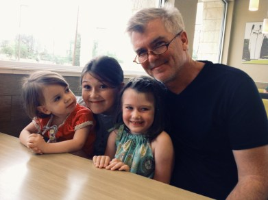 Girls breakfast with dad