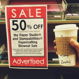 Coffee + Hobby Lobby Paper sale!!!!!!