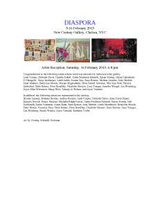 New Century Gallery, Chelsea, NYCArtist Reception, Saturday, 16 February 2013, 6-8 pm.