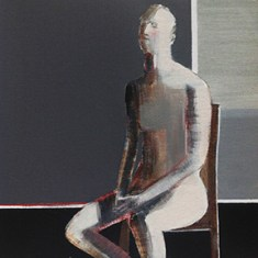 """Relaxed, 12"""" x 12"""", oil on panel - Sold Painting Not Available"""