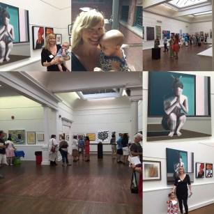 Collage of Slater Memorial Museum Exhibit