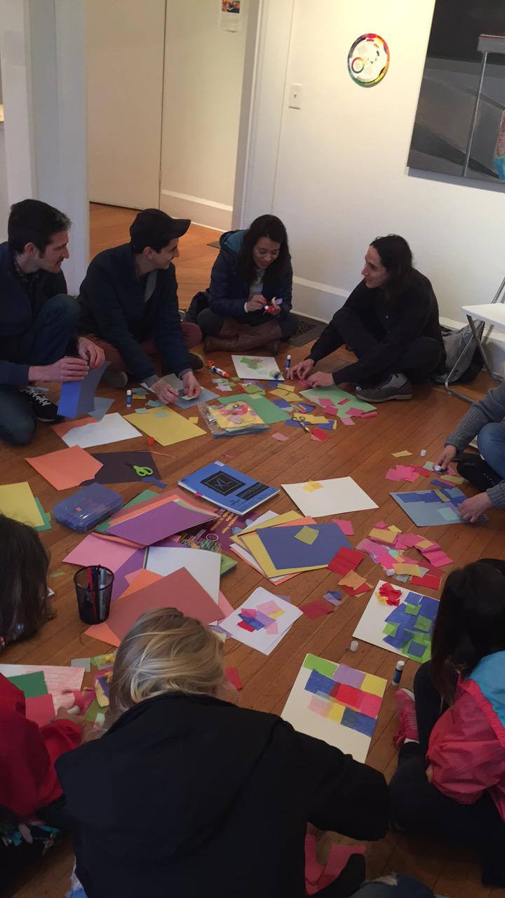 Artist workshop after talk.