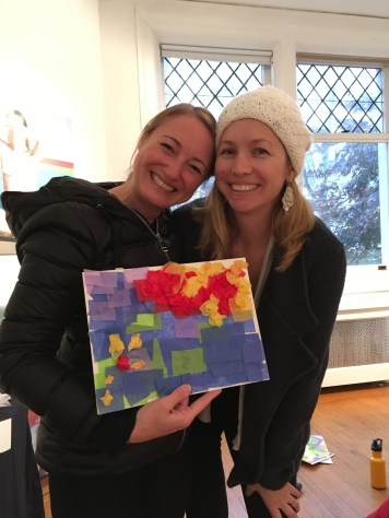 Artist Marcela Staudenmaier showing off her color theory creation.