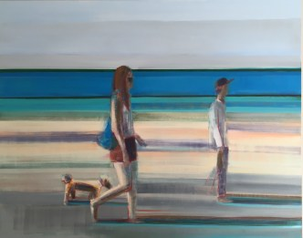 """Beach Walk"", 48"" x 60"", OIl on Canvas"