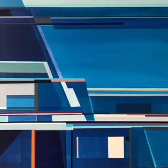 """Littoral No. 407"", Acrylic on Canvas, 20 x 20"""