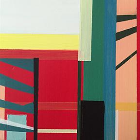 """Breaking Down Borders, 5 x 5"""", Acrylic on Panel"""