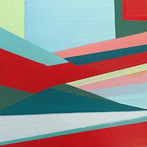 "Tides of Change, 5 x 5"", Acrylic on Panel"