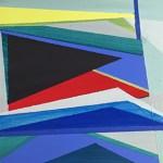 """Yellow Line, 5 x 5"""", Acrylic on Panel"""