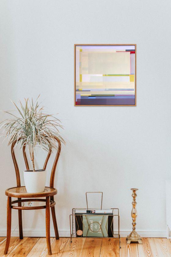 "Artist Shilo Ratner, Golden, 20"" x 20"", Acrylic Paint on Canvas"