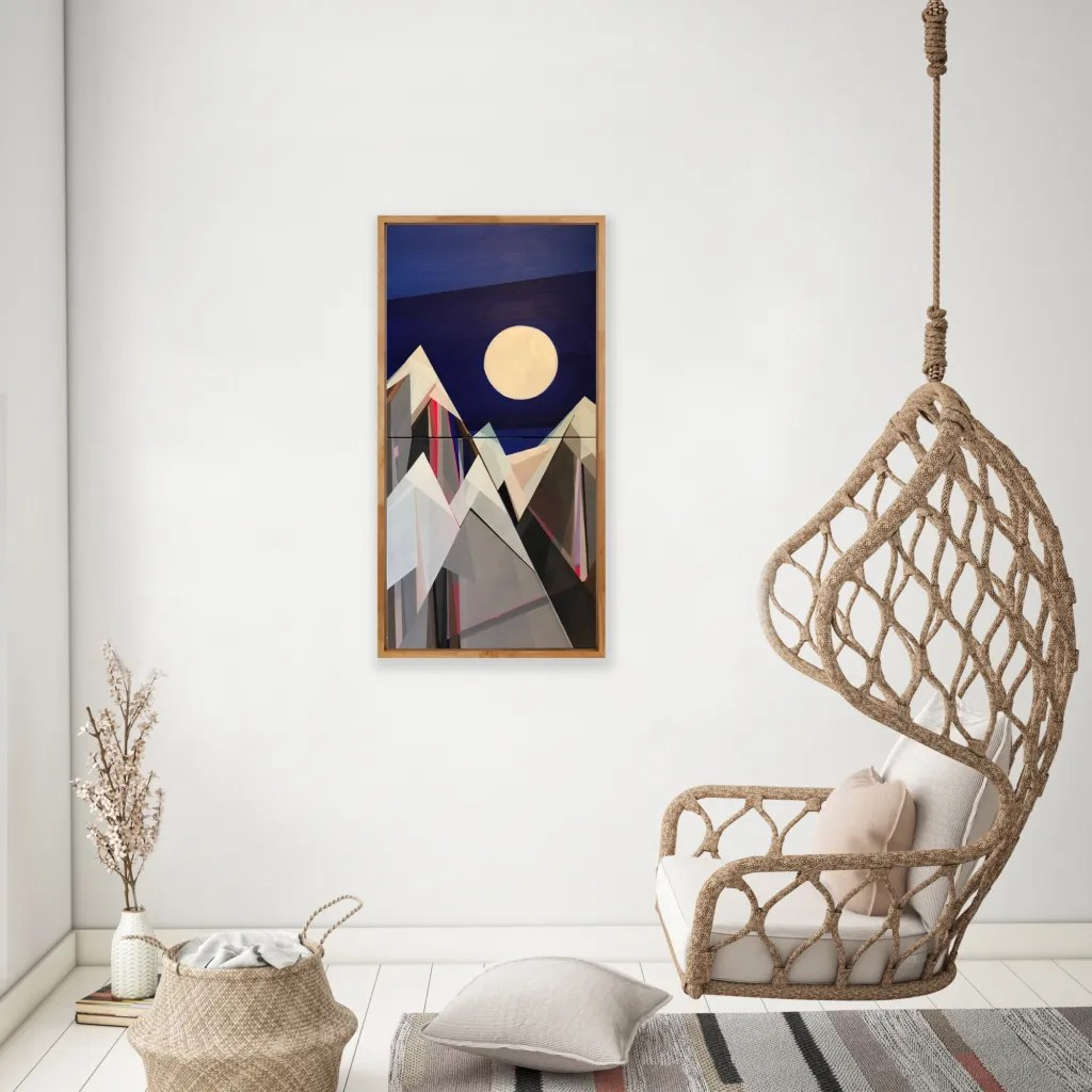 """Artist Shilo Ratner, Moonlight Mountain, 40"""" H x 20"""" W, Email shiloratner@gmail.com to Collect"""