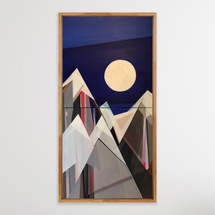 New Painting Moonlight Mountain