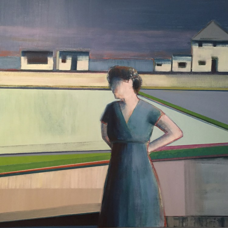 Artist Shilo Ratner, Five Houses, 36 x 36, Oil Paint on Canvas