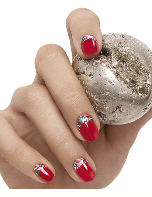 Nail Art Designs With Rhinestones And Pearls
