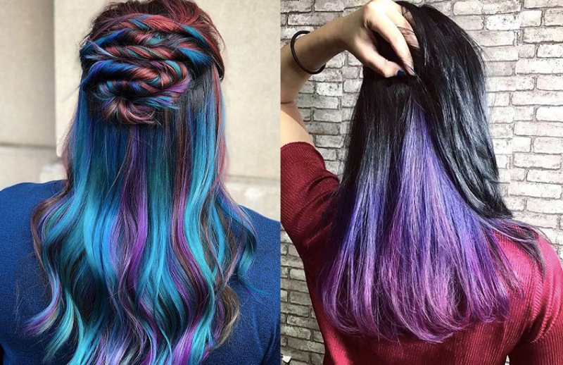 Rainbow Hair Color Underneath Coloringsite