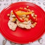 鶏胸肉とひよこ豆のクミン炒め