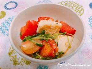 トマトと厚揚げの花椒炒め