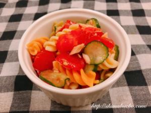 トマトときゅうりのマカロニサラダ