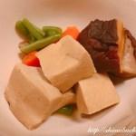 高野豆腐と干し椎茸の煮物