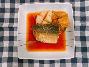 鯖とカブのキムチ煮