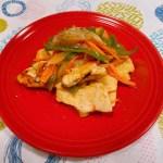 鶏胸肉と野菜のビネガーソテー