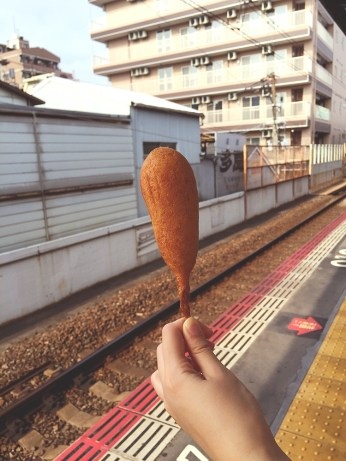 CORNDOG!!! It was surprisingly a mix of savoury and sweet, and I really enjoyed it!