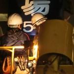 江戸川区小岩にあるテナントビルの袖看板検査