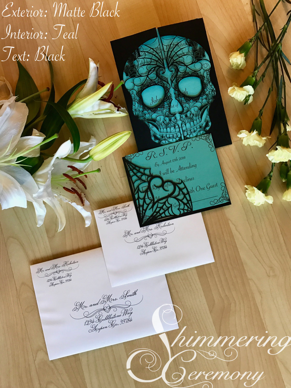 day-of-the-dead-skull-laser-cut-wedding-invitation-with-matching ...
