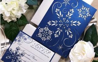 Snowflake laser cut invitation