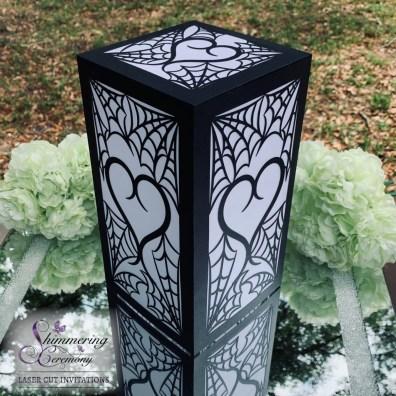 gothic wedding centerpieces spider heart lantern