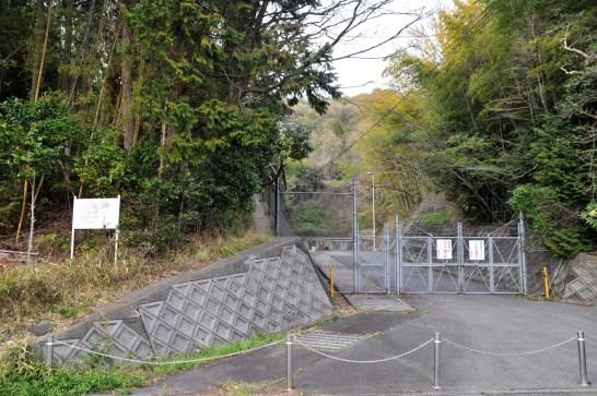 瓶割山(長光寺山)岩倉山峠道ルート - 鳴谷側ゲート