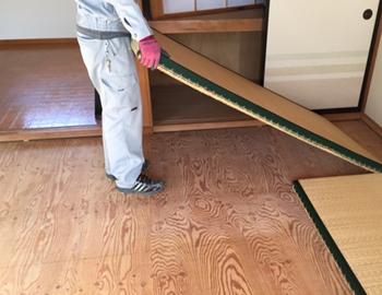 長野市床工事畳からフローリングへの張替えにおける畳撤去処分