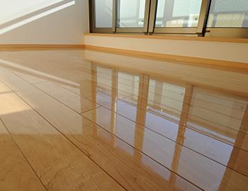 メンテナンスフリーのフローリングの掃除方法、メンテナンス方法、お手入れ方法、補修方法、再塗装について
